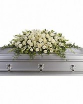 Purity and Peace Full Casket Spray