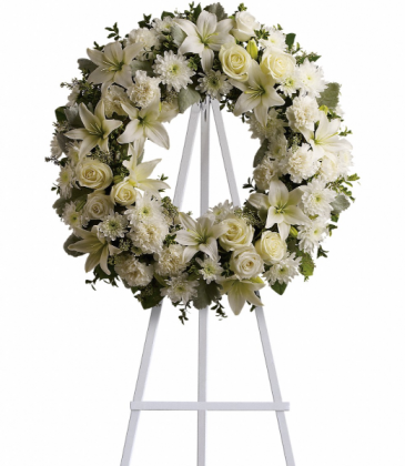 Purity Serene Wreath Easel