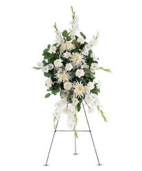 "PURITY SPRAY STANDING FUNERAL PC ON A 5'-6"" STAND"