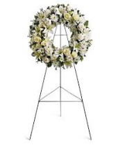 PURITY WREATH STANDING FUNERAL PC