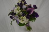 Purple bridesmaid bouquet wedding