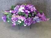 Purple 'a Plenty Silk Headstone Saddle