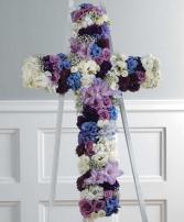 Purple and Blue Cross Cross Funeral