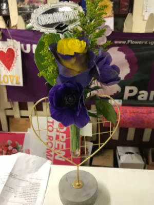 Purple and gold Graduation  in Revere, PA | Purple Pansy