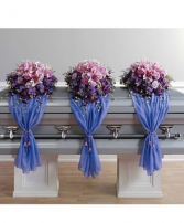 Purple and Pink Casket Funeral