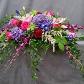 Purple and Pink Inspired  Casket Arrangement