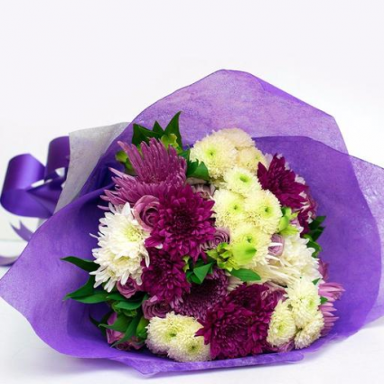 Purple and white Graduation Bouquet