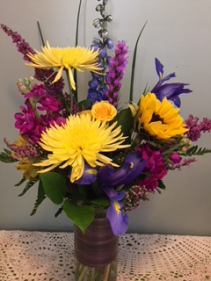Purple and Yellow Arrangement