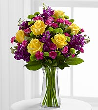 Purple and Yellow Vase