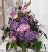 purple basket