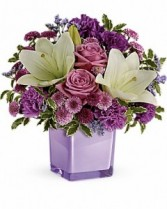 Purple Bouquet Fresh Arrangement