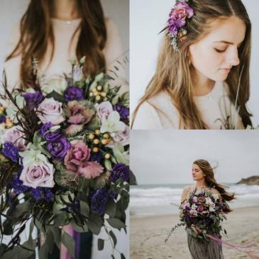 Purple Bridal Bouquet Bridal Bouquet
