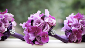 Purple Bridesmaids bouquets
