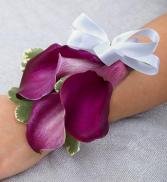 Purple Calla Lily Corsage