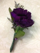 Purple Carnation Boutonniere