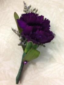 Purple Carnation Boutonniere