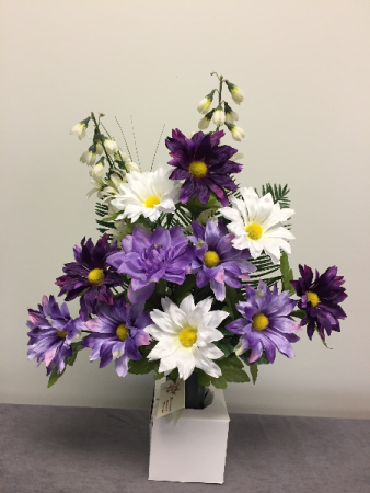 Purple Cone Cemetery Arrangement