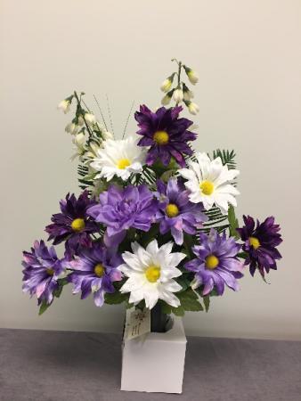Purple Cone Cemetery Arrangement