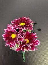 Purple Daisy Boutonniere