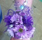 Purple Daisy Wristlet Prom