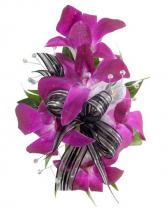 Purple Dendrob Corsage