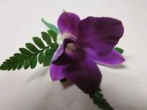 Purple Dendrobium Orchid Boutonierre, $12.50