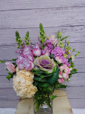 Purple Devotion  Modern Elegant in San Rafael, CA | BURNS FLORIST