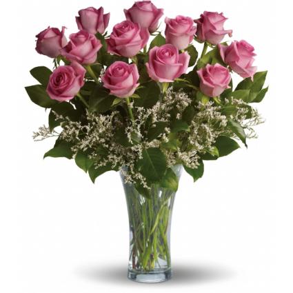 Purple Dozen Roses