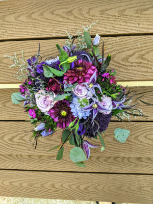 Purple Dream Bouquet Bridal Bouquet in Highland Mills, NY | Scepter Brides Flowers