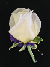 Purple Eclipse Prom Boutonniere