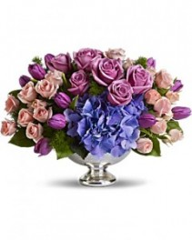Purple Elegance Centerpiece All around