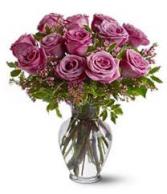 Purple Enchantment Rose vase