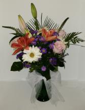 Purple Endearment Sympathy Vase