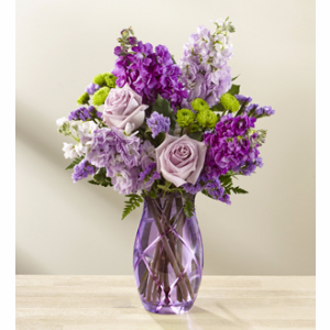Purple Expressions ***Vase color based on availability/Vase may vary***