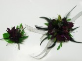 Purple feather mix PROM FLOWERS