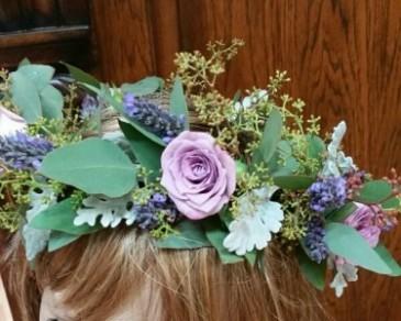 Purple Floral Crown Floral Crown