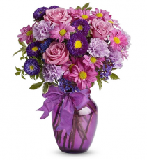 Purple Flowers Delivery