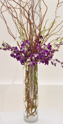 Purple Forest Centerpiece Wedding Flowers