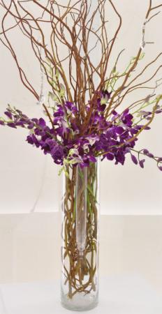 Purple Forest Centerpiece Wedding Flowers