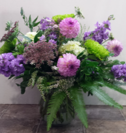 Purple Frills Vase Arrangement