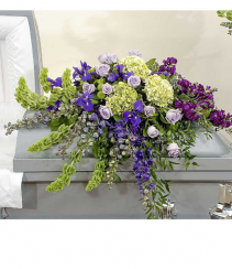 Purple Garden Casket Spray