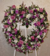 Purple Open Heart Wreath