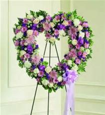 purple heart  sympathy wreath