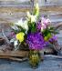 Purple Hydrangea  Vases arrangement