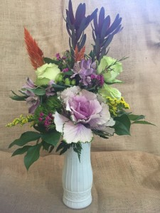 Purple in Fall Arrangement