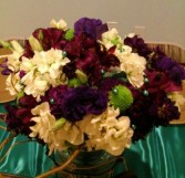 Purple Jewel Tones Bridal Bouquet Hand-tied Bridal Bouquet
