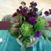 Purple Jewel Tones Centerpiece Centerpiece