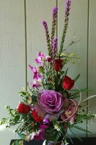 Purple Kale Arrangement Valentine's Day