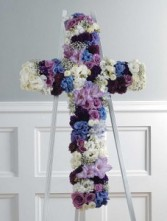 PURPLE LAVENDER AND WHITE CROSS