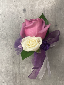 LOVELY LAVENDER PROM BOUTONNIERE